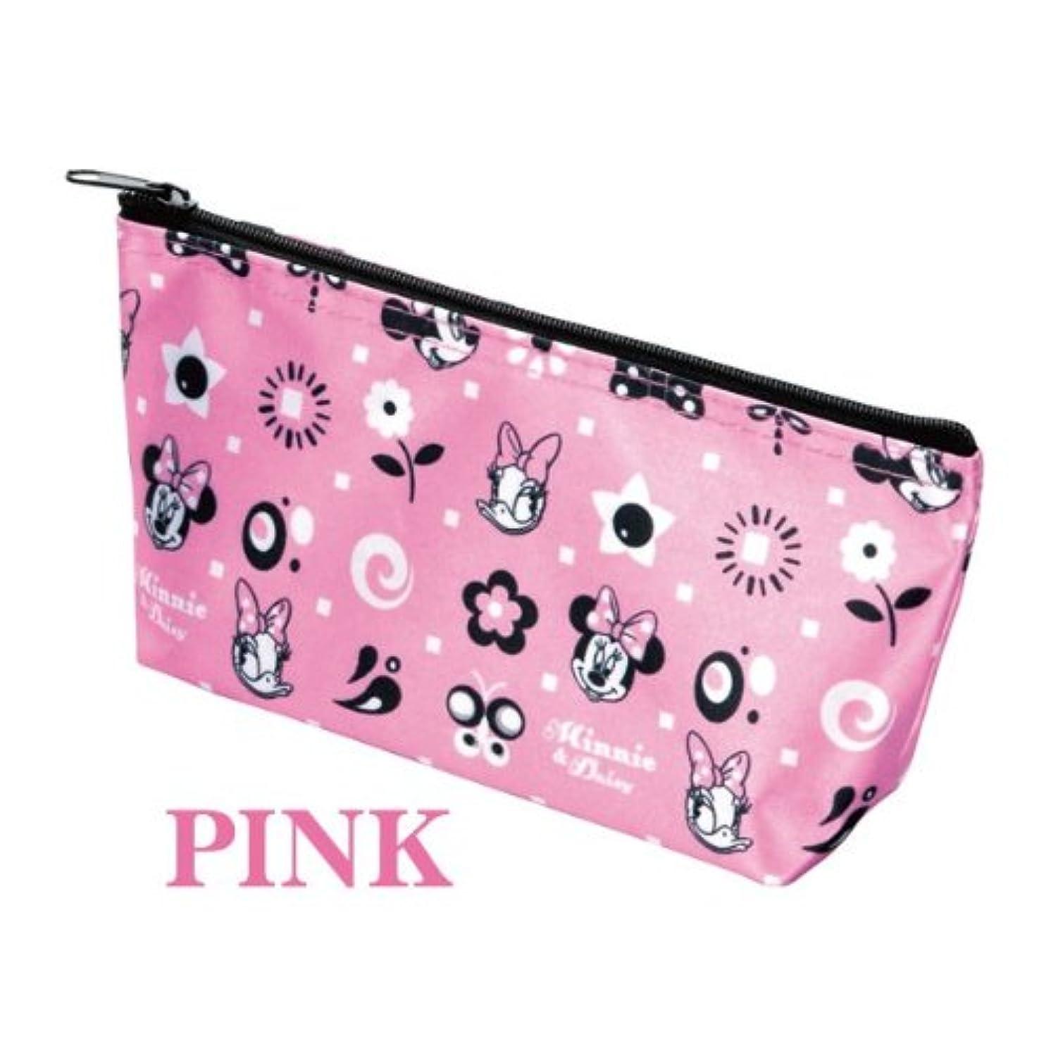 船酔い用語集受動的Disney(ディズニー) スイートキャラクターポーチ(ピンク?ブラック) (ピンク)