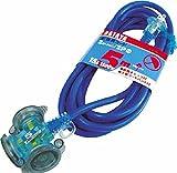 ハタヤ 防雨型2P延長コード5m ブルー FX053B
