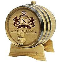 Personalized Whiskey Barrel–モノグラムワインバレル–カスタムオーク2リットルバレル–WPS Designs
