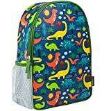 Wild & Wolf Petit Collage Dinosaurs Eco-Friendly Backpack Child Backpack, Standard, Multi, PTC068