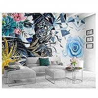 山笑の美 ヨーロッパのファッション人格3Dの壁紙明るく美しい羽の花の背景の壁の壁画-310X200CM