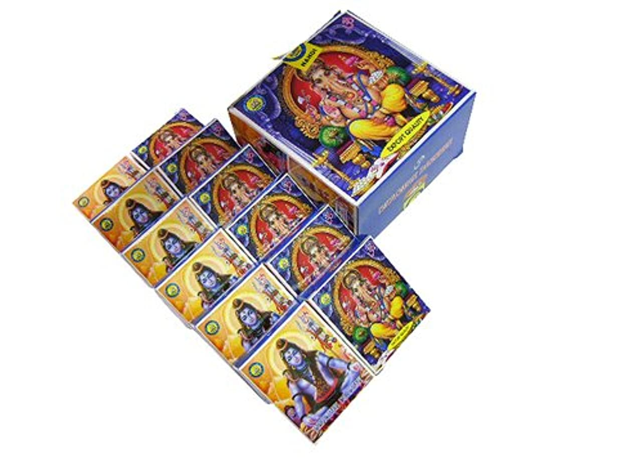 いつ冷淡な恒久的ナンディ バグワンダルシャン香コーンタイプ NANDI BHAGWAN CORN 12箱セット
