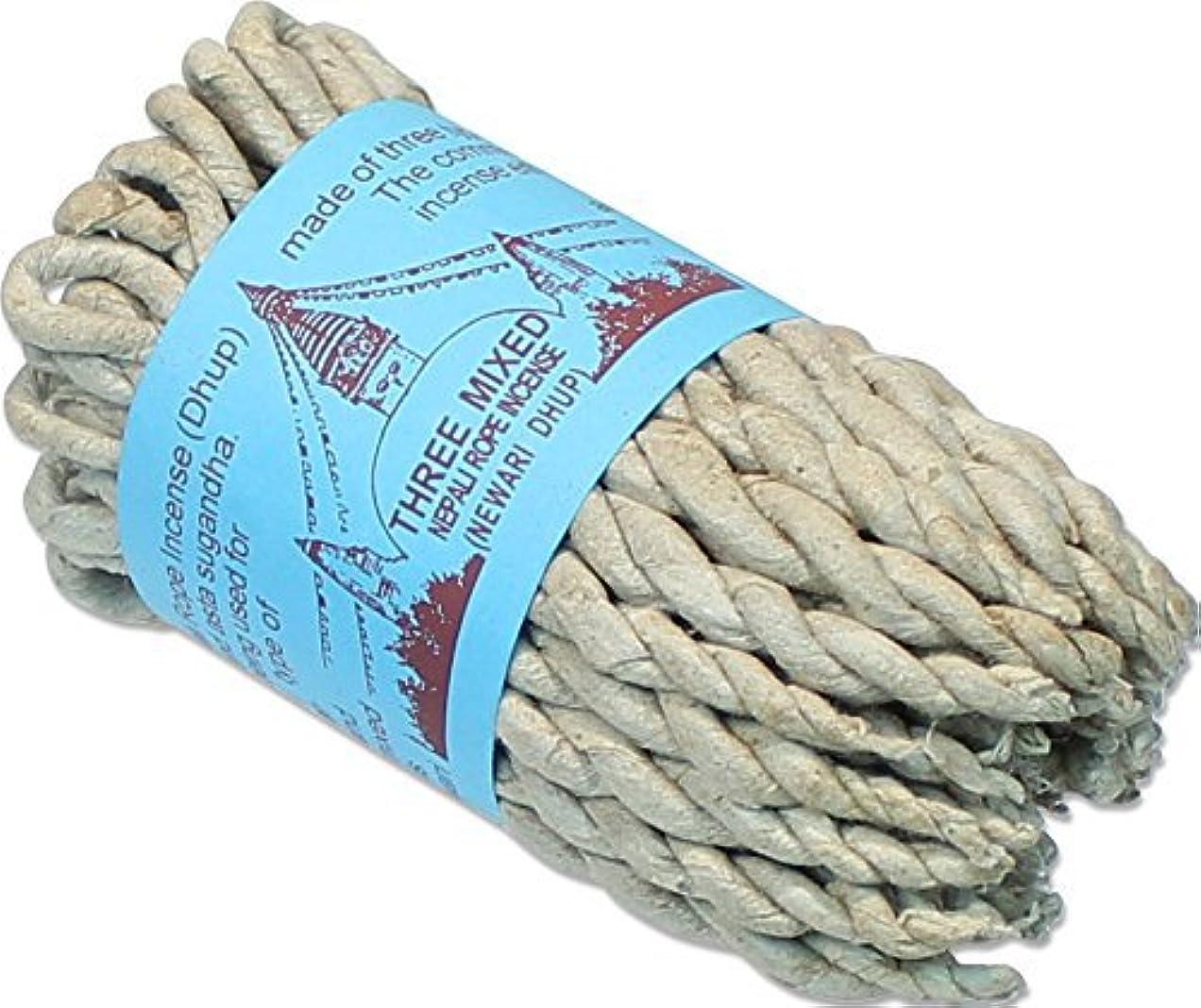 磨かれたより平らなレガシーネパール語3つMixed Rope Incense