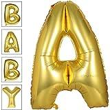 アルミ風船 バルーン 40インチ アルファベット風船 A-Z 巨大数字 ビッグ ナンバー 0-9組合自由 誕生日ハロウィン クリスマス イベント パーティー 結婚式飾り (A)