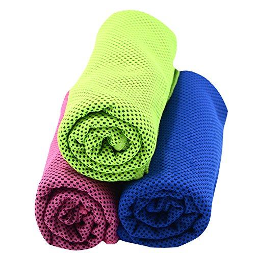冷却タオル スポーツタオル 3枚セット 軽量 速乾 超吸水 ひんやりタオル クールタオル 熱中症対策 グッズ ヨガ 運動 水泳 登山 旅行に最適