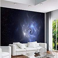 Wuyyii カスタム壁紙3Dギャラクシーブラックホール背景リビングルームの寝室のソファテレビ壁画壁紙の装飾 - 280×200センチ