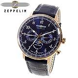 ツェッペリン ヒンデンブルク クオーツ メンズ 腕時計 7038-3 ネイビー[並行輸入品]
