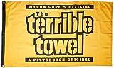 NFL Pittsburgh Steelers片側フラグTerribleタオル、3-foot X 5フィート、ブラックとゴールド