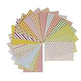 ノーブランド品 ラベリング 20枚セット 混合パターン 格子縞 ステッカー 装飾用 工芸品