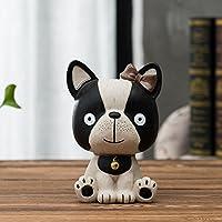 HuaQingPiJu-JP 新しいブルースドギーピギーバンク犬の装飾家の装飾(Sボウタイ)