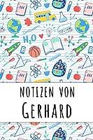 Notizen von Gerhard: Liniertes Notizbuch fuer deinen personalisierten Vornamen