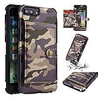 フリップ 財布 シェル の iPhone 7 Plus iPhone 8 Plus Appears 衝撃 保護 〜と カード スロットs 軽量 グリップ 且つ 調節可能な 立つ Purple