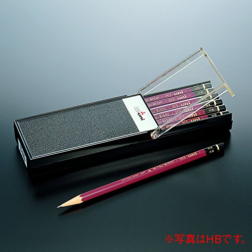 New Mitsubishi Pencil with Eraser K9852 HB 9852 B 1 dozen import Japan Hardness