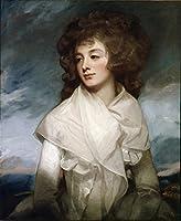 """Lady Elizabeth Morshead–byジョージRomney–Unframed 12"""" by 15"""" GC-53413-1215"""