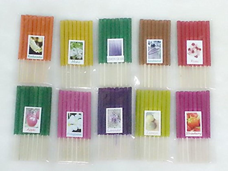 欠伸ポップ仕方セット15 Mixアロマ10 Scents 80 Sticks Mini Incense Sticks Thai Spaアロマセラピーホームのハーブ&香料、長さ3インチ