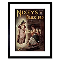 Ad Nixey Black Lead Stove Oven Cleaner Soap Fire Retro Framed Wall Art Print 火災レトロ壁