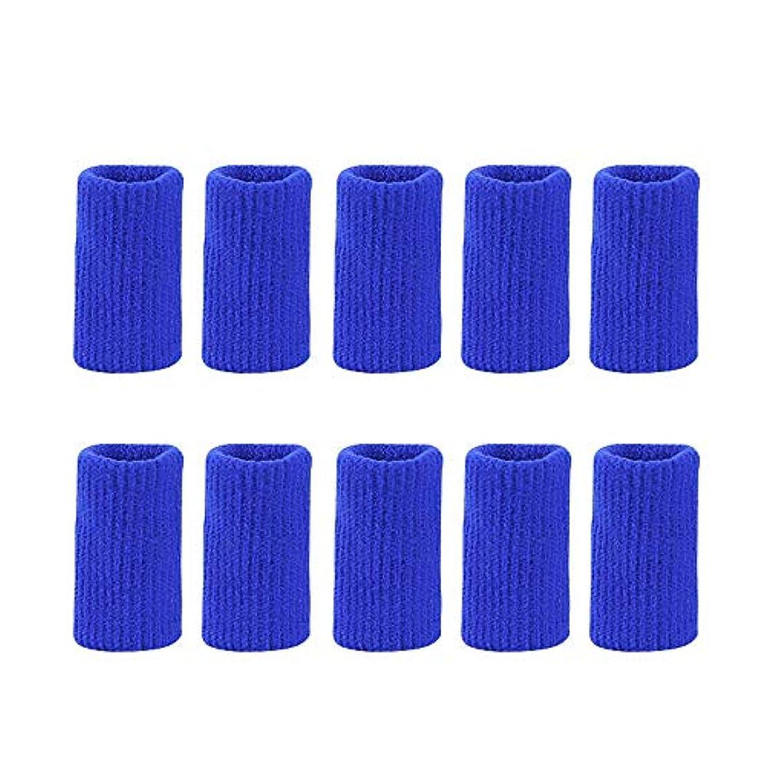 論文酸化物定規フィンガープロテクタースリーブナイロンニットフィンガージョイントカバー防止摩擦関節炎伸縮サポートスポーツ補助バスケットボールフィンガーガード,ブルー