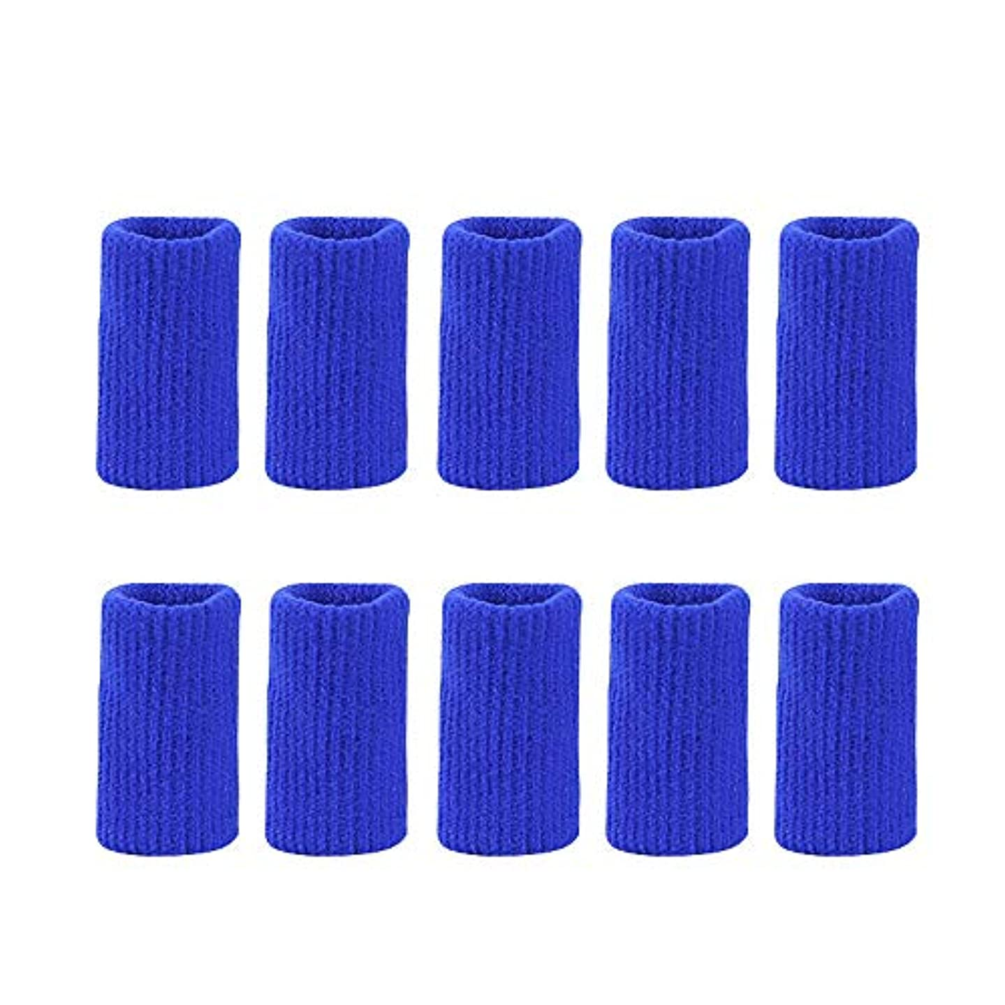 ガソリン静かにインペリアルフィンガープロテクタースリーブナイロンニットフィンガージョイントカバー防止摩擦関節炎伸縮サポートスポーツ補助バスケットボールフィンガーガード,ブルー