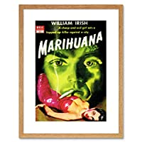Book Cover Pulp Fiction Marijuana Irish Murder Killer Evil Framed Wall Art Print 本カバーフィクションアイルランド語壁