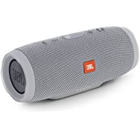 JBL CHARGE3 Bluetoothスピーカー IPX7防水/ポータブル/パッシブラジエーター搭載 グレイ JBLCHARGE3GRAYJN 【国内正規品】