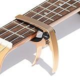 BestSounds ウクレレ用カポタスト ワンタッチ 長期品質保証 使いやすいカポタスト ukulele capo (ローズゴールド1)