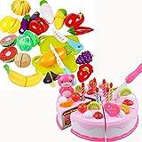 Best HAPE誕生日おもちゃ - 切れる野菜と果物 20セット 包丁 まな板 ケーキ 37 セット付き ままごと Review
