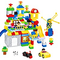 QXMEI 子供のおもちゃ 子供の組立ブロック 大きなパーティクル組み立てブロック 組み立てブロック 子供用パズルブロック 製品サイズ: 16.1インチ 11.4インチ 11.4インチ