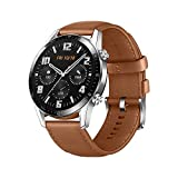 Huawei Watch GT 2 2019 Bluetooth Smartwatch Longer Lasting 2 Weeks Battery Life, Waterproof, Compatible with iPhone and Android, 46mm (Pebble Brown)