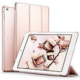 iPad Air ケース クリア ESR iPad Air カバー レザー PU スタンド機能 オートスリープ スリム軽量 傷つけ防止 三つ折タイプ iPad Air(2013年版)専用スマートカバー(ローズゴールド)
