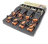 iimono117 ラチェット式 ラッシングベルト 4.5m 4本セット / バイク運搬 ベルト荷締機 ベルト荷締め機 固定ベルト 荷締めベルト バンド ベルト フック ロープ 固定 荷物固定 車載 荷台 引越し 業務用