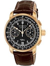 [ツェッペリン]ZEPPELIN 腕時計 100周年モデル ブラック文字盤 7676-2 メンズ 【並行輸入品】