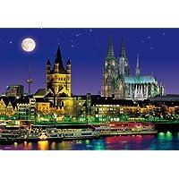 1000ピース ジグソーパズル 月夜のケルン大聖堂 マイクロピース (26x38cm)