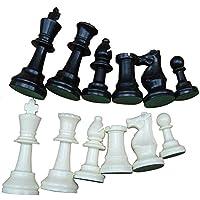 国際トーナメントチェスセットプラスチックチェスゲームホワイト&ブラック合計32個(大型77ミリメートル)