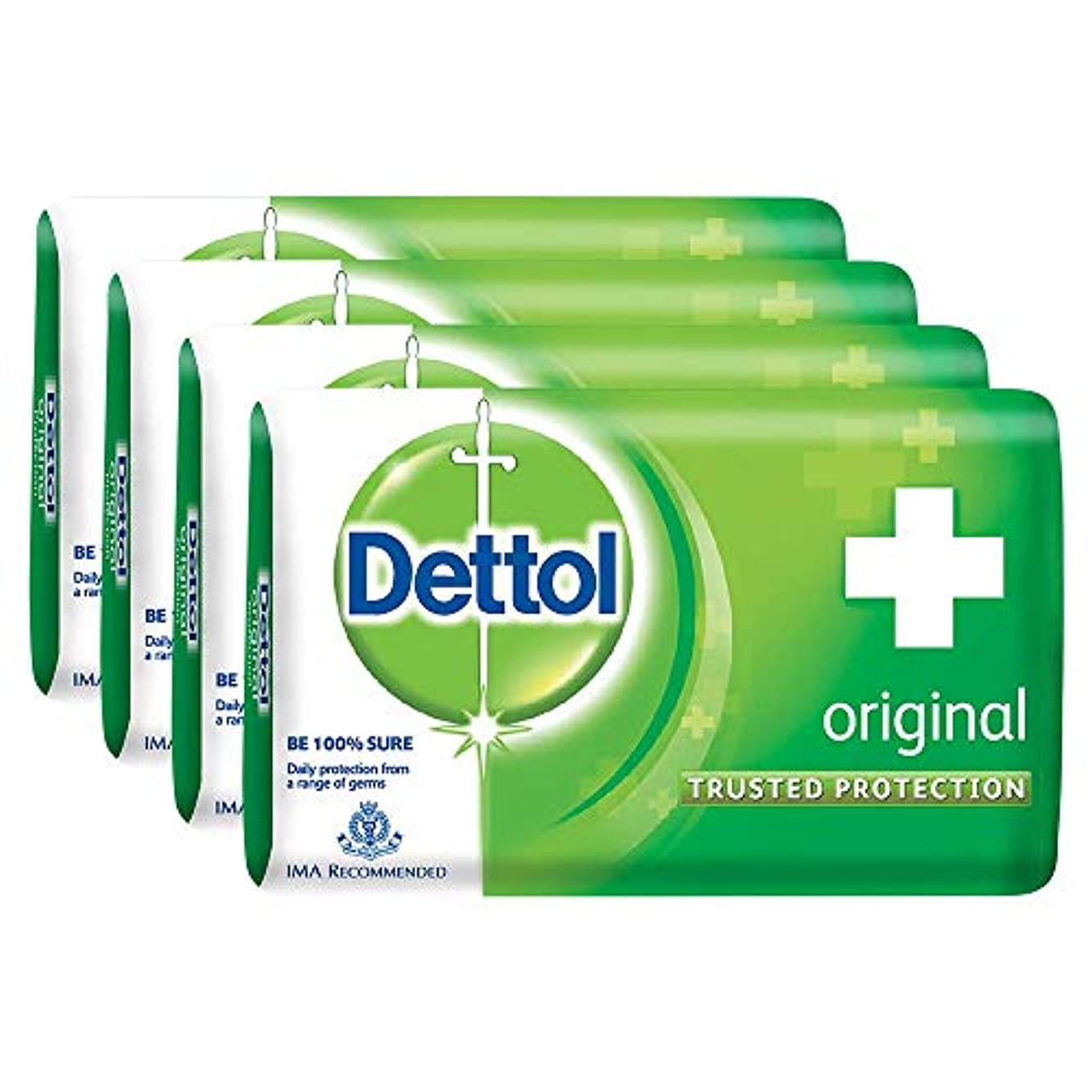 食用神話お酢Dettol Original Soap, 125g (Pack Of 4) SHIP FROM INDIA