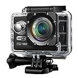 Patech スポーツカメラ アクションカメラ Wi-Fi搭載 技適認証済み 2インチ液晶画面 170度広角レンズ 複数のアクセサリー 山登/スキーなどの激しいスポーツも適用 (ブラック)