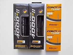 タイヤとチューブ2本セット Continental(コンチネンタル) GRAND PRIX 4000 S II グランプリ4000S2 (700×23C-仏式42mm)