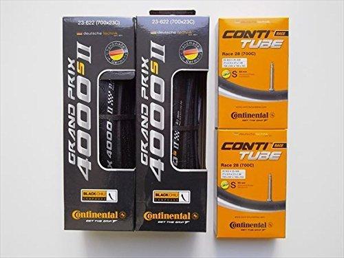 タイヤとチューブ2本セット Continental(コンチネンタル) GRAND PRIX 4000 S II グランプリ4000S2 (700×25C-仏式60mm)