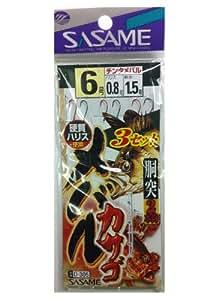 ささめ針(SASAME) D-305 メバル・カサゴ3セット 6-0.8