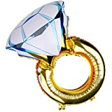 SONONIA アルミ 誕生日 バレンタイン プロポーズ パーティーの装飾 ダイヤモンドリング 指輪型 バルーン 風船