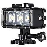 LEDフィルインライト Andoer® ミニ ポータブル LED ダイビング ビデオライト スポットライト 3モード 防水 水中30メートル 1200mAh 内蔵 充電式バッテリー 付き GoPro Hero SJCAM Xiaomi Yi スポーツカメラ・アクションカメラ用