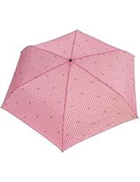 レディース かわいい リボン×ストライプ 55cm 折りたたみ傘 ピンク