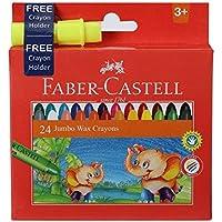 Faber Castell Jumbo Wax Crayons - 24 Shades [並行輸入品]