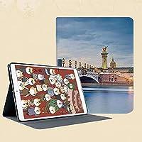 全面保護型 傷つけ防止 IPad Mini 5 (第五世代) 専用手帳型 PU (IPad mini 5 (2019モデル)パリ、フランスのアレクサンドル3世橋と彫刻像都市