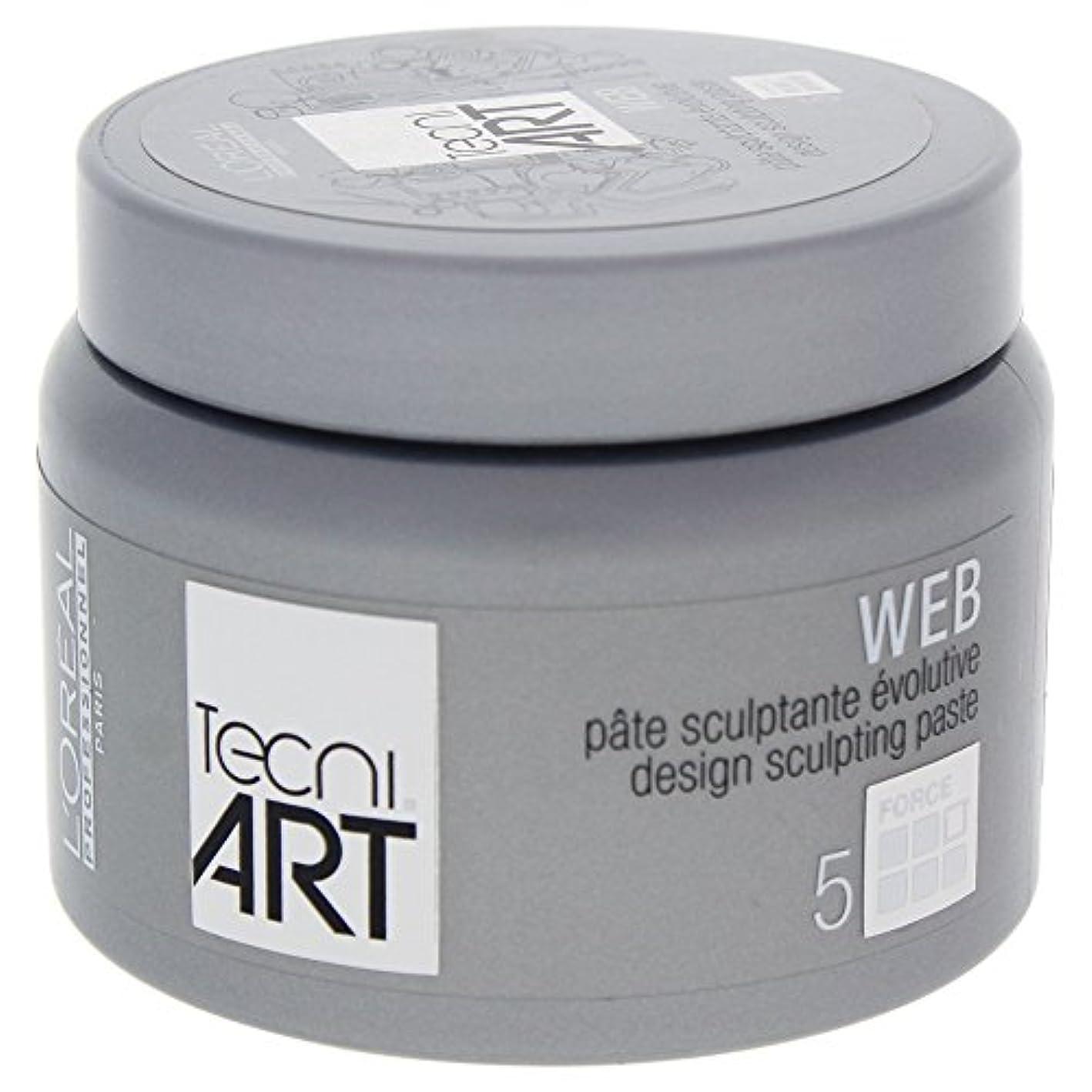 ペッカディロの間で投げ捨てるロレアルテクニアートTecni Art Force 5 Web Design Sculpting Paste