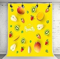 ケイト5x 7ft Fruits写真背景イエロー写真の夏の背景写真撮影