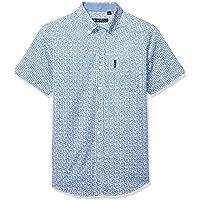 Ben Sherman Mens BA19S90580 Ss Weave PRNT Shirt Short Sleeve Button Down Shirt