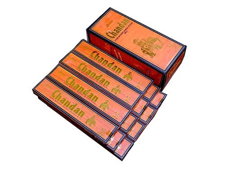 法律により倍率期間BALAJI(バラルジ) チャンダン香 スティック CHANDAN 12箱セット