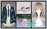 【QQCOSPLAY】 コスプレ衣装+ウイッグ+靴+リュックサック スーパーダンガンロンパ2 さよなら絶望学園 七海千秋 cosplay