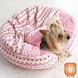 ペットパラダイス プリティブーケ キルト ボア すっぽり 寝袋 カドラー