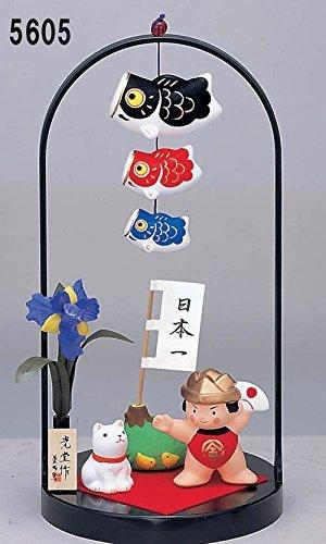 小さい 小さめ コンパクト ミニ 童大将 端午の節句 おとぎ話シリーズ 錦彩鯉のぼり飾り(金太郎)手籠 五月人形